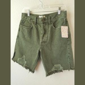 Free People NWT Sequoia HW Denim Shorts Sz 25